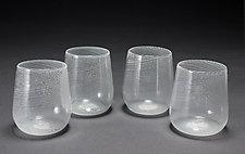 Mezza Filigrana Wine Set by Frost Glass (Art Glass Decanter and Glasses)