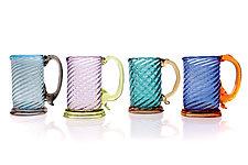 Twisty Mugs by Frost Glass (Art Glass Drinkware)