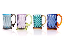 Twisty Mugs by Frost Glass (Art Glass Drinkware)