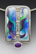 Split Waterfall Pendant by Anna Tai (Enameled Necklace)