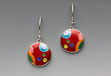 Circular Galaxy Earrings by Anna Tai (Enameled Earrings)