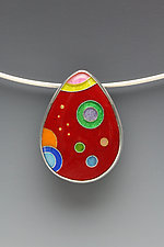 Small Galaxy Teardrop Pendant by Anna Tai (Enameled Necklace)