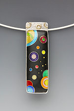 Small Galaxy Rectangle Pendant by Anna Tai (Enameled Necklace)