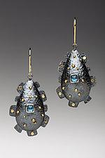 Domed Teardrop Earrings by Anna Tai (Gold, Silver & Stone Earrings)