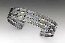 Gold Studded Cuff by Anna Tai (Gold & Silver Bracelet)