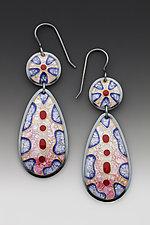 Two-Piece Cobblestone Earrings by Anna Tai (Enameled Earrings)