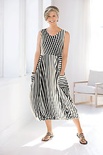 Striped Sleeveless Eclipse Dress by Heydari  (Knit Dress)