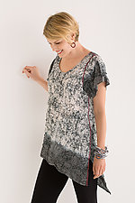 Ombre Shibori Asymmetric Top by Mieko Mintz  (Cotton Top)
