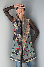 Dot & Paisley Circular Vest by Mieko Mintz (Cotton Vest)