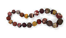 Silk Kantha Autumn Necklace by Mieko Mintz (Silk Necklace)