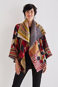 Circular Jacket #8 by Mieko Mintz  (One Size (2-18), One of a Kind Jacket)