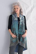 Shadow Print A-line Vest by Mieko Mintz  (Woven Vest)