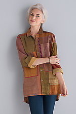Pieced Shirt Jacket by Mieko Mintz  (Woven Shirt)