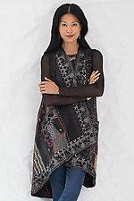 Silk Ralli Wrap Vest by Mieko Mintz  (Silk & Cotton Vest)