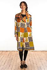 A-Line Coat #1 by Mieko Mintz  (One Size (2-16), Cotton Coat)