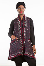 A-Line Vest #4 by Mieko Mintz  (Size 1 (2-14), Silk/Wool Vest)