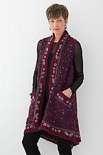 A-Line Vest #3 by Mieko Mintz  (Size 1 (2-14), Silk/Wool Vest)