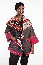 Circular Long Jacket #5 by Mieko Mintz  (One Size (2-18), Cotton Jacket)