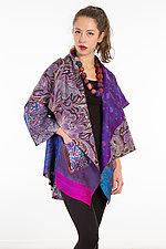 Circular Long Jacket #14 by Mieko Mintz  (One Size (2-18), Silk Jacket)