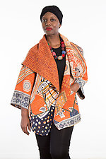 Circular Long Jacket #4 by Mieko Mintz  (One Size (2-18), Cotton Jacket)