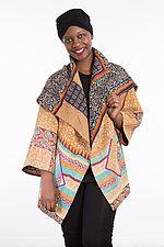 Circular Long Jacket #7 by Mieko Mintz  (One Size (2-18), Cotton Jacket)