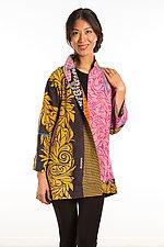 Flare Long Jacket #2 by Mieko Mintz  (Size Medium (10-12), Cotton Jacket)