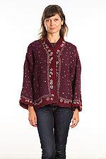 Cropped Jacket #12 by Mieko Mintz  (One Size (4-14), Silk/Wool Jacket)