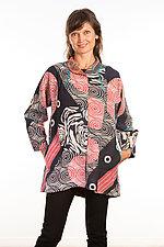 Flare Long Jacket #3 by Mieko Mintz  (Size Large (14-16), Cotton Jacket)