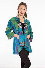 Kimono Jacket #1 by Mieko Mintz  (One Size (2-18), Silk/Cotton Jacket)