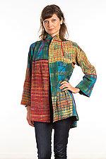 Flare Long Jacket #6 by Mieko Mintz  (Size Medium (10-12), Silk/Cotton Jacket)
