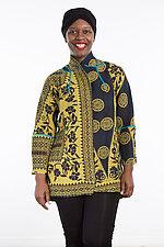 Flare Long Jacket #5 by Mieko Mintz  (Size Medium (10-12), Cotton Jacket)