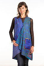 Wrap Vest #6 by Mieko Mintz  (Size 1 (2-14), Silk Vest)