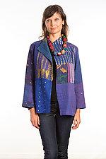 Short Jacket #13 by Mieko Mintz  (Size Medium (10-12), Silk/Cotton Jacket)