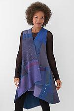 Wrap Vest #4 by Mieko Mintz  (Size 1 (2-14), Silk/Cotton Vest)