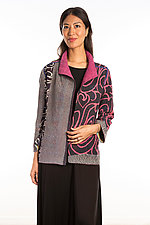 Short Jacket #6 by Mieko Mintz  (Size Medium (10-12), Cotton Jacket)