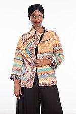 Short Jacket #8 by Mieko Mintz  (Size Large (14-16), Cotton Jacket)