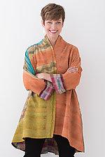 Kimono Long Jacket #1 by Mieko Mintz  (One Size (2-18), Silk/Cotton Jacket)