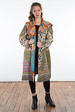 A-Line Coat #6 by Mieko Mintz  (One Size (2-16), Cotton Coat)
