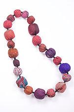 Kantha Necklace #8 by Mieko Mintz  (25