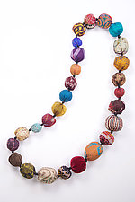 Kantha Necklace #13 by Mieko Mintz  (35