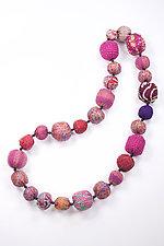 Kantha Necklace #14 by Mieko Mintz  (35
