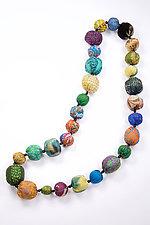 Kantha Necklace #16 by Mieko Mintz  (35