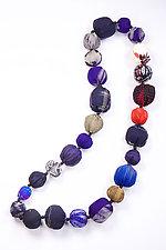 Kantha Necklace #17 by Mieko Mintz  (35