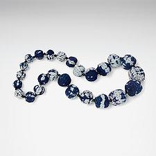 Stream Shibori Kantha Necklace by Mieko Mintz  (Cotton Necklace)