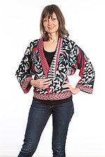 Dolman Short Jacket #5 by Mieko Mintz  (Size Medium (8-12), Cotton Jacket)