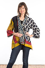 Kimono Jacket #2 by Mieko Mintz  (One Size (2-16), Cotton Jacket)