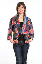 Dolman Short Jacket #1 by Mieko Mintz  (Size Medium (8-12), Cotton Jacket)
