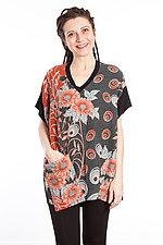 V-Neck Pocket Tunic #6 by Mieko Mintz  (One Size (2-14), Cotton/Rayon Tunic)