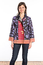 Short Jacket #7 by Mieko Mintz  (Size Large (10-14), Cotton Jacket)