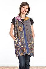 Wing Collar Vest #2 by Mieko Mintz  (One Size (2-12), Cotton Vest)